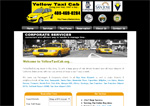 Yellow Taxi Cab.ORG taxi website design limo