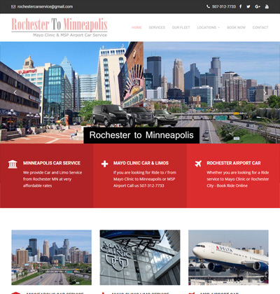 rochester to minneapolis - limo website design