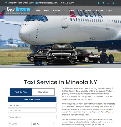 taxi nassau - taxi website design